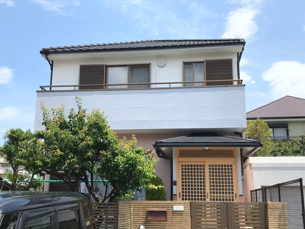 6/22完成です。福岡市西区姪浜・K様邸 外壁塗装工事