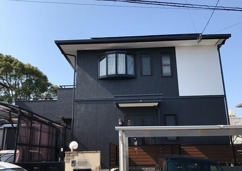 2/26完成です。古賀市久保・H様邸 外壁塗装・屋根塗装・防水塗装工事