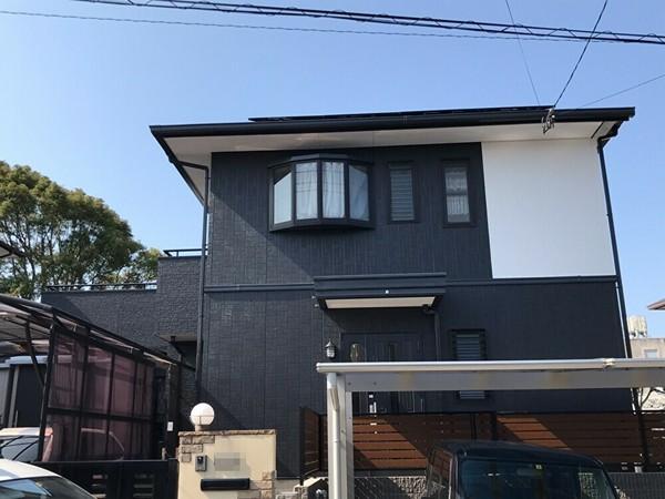 古賀市久保・H様邸 外壁塗装・屋根塗装・防水塗装工事 1/23着工です。