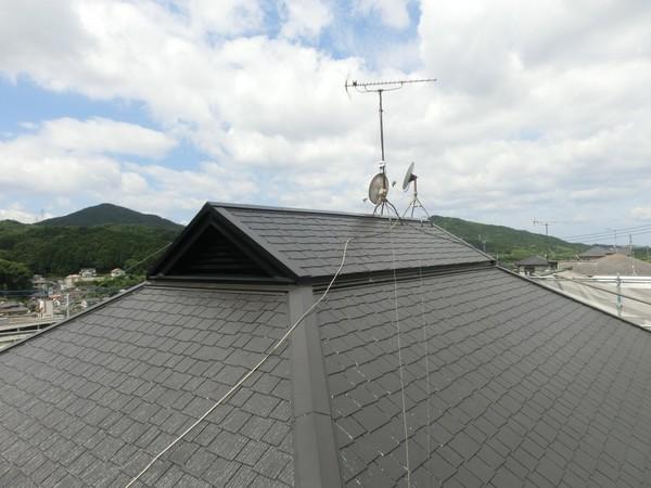 7月25日完成です。宇美町四王子坂・S様邸 屋根塗装工事