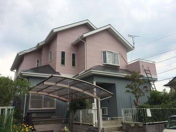 7月7日完成です。筑紫野市針摺東・M様邸 外壁塗装・屋根塗装工事