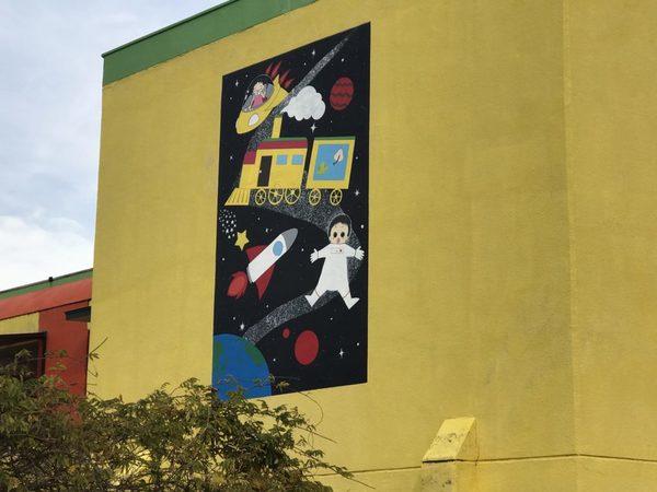 12/5完成です。太宰府市高雄・星ヶ丘保育園 外壁塗装工事・アート塗装工事