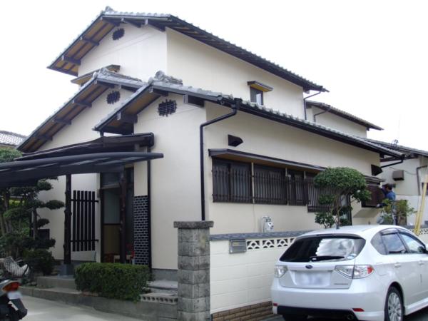 11/1完了です。筑紫野市永岡・I様邸 外壁塗装工事
