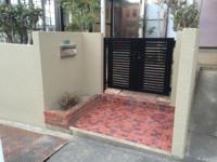 1/8完成です。太宰府市高雄・O様邸 塀塗装工事