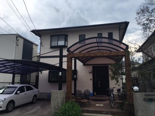 8月31日完成です。筑紫野市紫・K様邸 外壁塗装・屋根塗装工事
