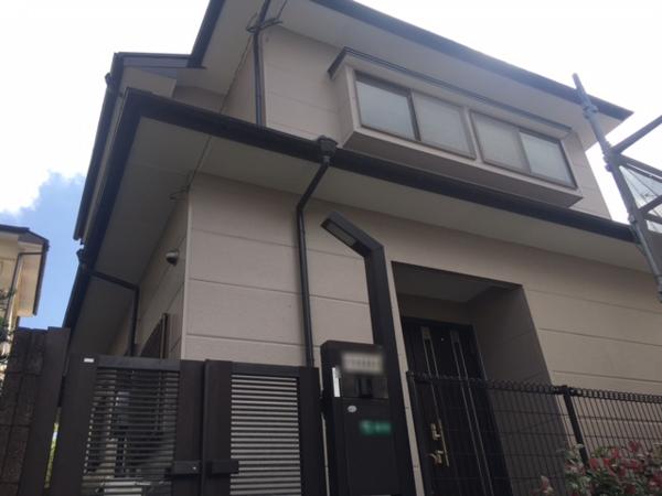 10/15完成です。筑紫野市針摺東・T様邸 外壁塗装・屋根塗装工事