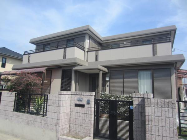 2/14完成です。朝倉郡筑前町東小田・K様邸 外壁塗装・屋根塗装工事
