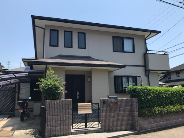 5/29完成です。筑紫野市吉木・E様邸 外壁塗装・屋根塗装工事