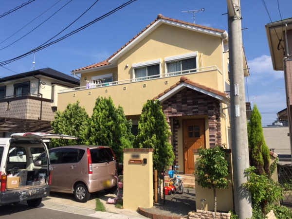 6月16日完了です。筑紫野市紫・F様邸 外壁塗装工事