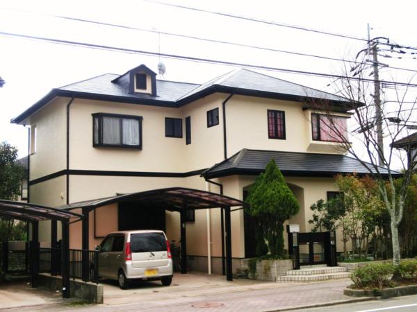 2/11完成です。太宰府市大佐野・K様邸 外壁塗装・屋根塗装工事