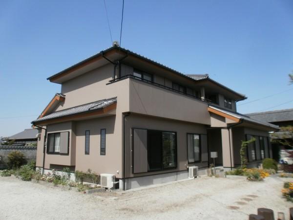 2/27完成です。佐賀県鳥栖市・S様邸 外壁塗装工事