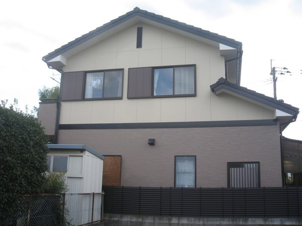 3/16完成です。久留米市安武町・K様邸 外壁塗装・屋根塗装工事