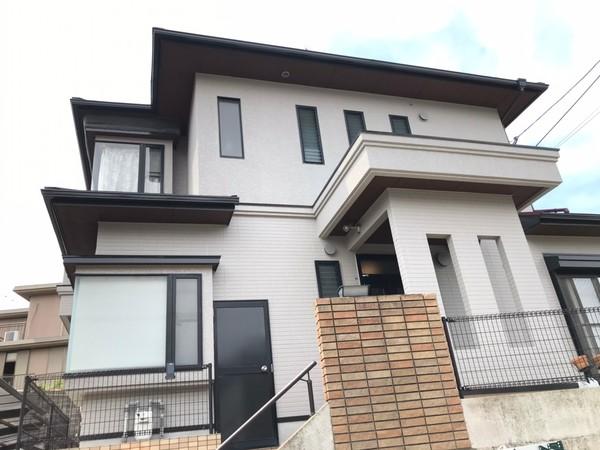 5/25完成です。福岡市東区香椎・I様邸 外壁塗装・屋根塗装工事