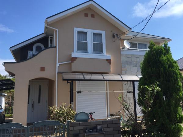 9/14完成です。小郡市美鈴が丘・N様邸 屋根・外壁塗装工事