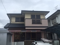 9月1日完成です。大野城平野台・N様邸 外壁塗装・屋根塗装工事
