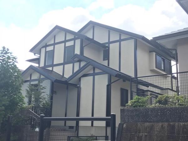 9月14日完成です。福岡県筑紫野市光が丘・T様邸 外壁塗装・屋根塗装工事