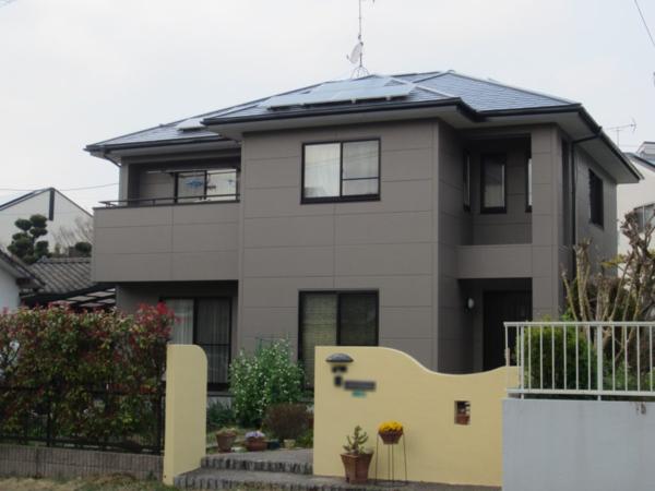 3/24完成です。太宰府市坂本・I様邸 外壁塗装・屋根塗装工事