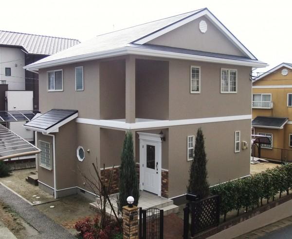 1/17完成です。太宰府市水城・Y様邸 外壁塗装・屋根塗装工事