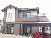 12/25完成です。大牟田市南船津町・N様邸 外壁塗装・屋根塗装工事
