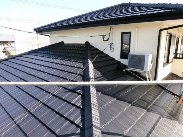 10/5完成です。太宰府市梅香苑・M様邸 屋根塗装工事