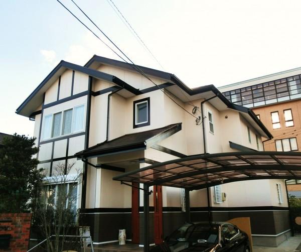 12/13完成です。筑紫野市天拝坂・H様邸 外壁塗装・屋根塗装工事