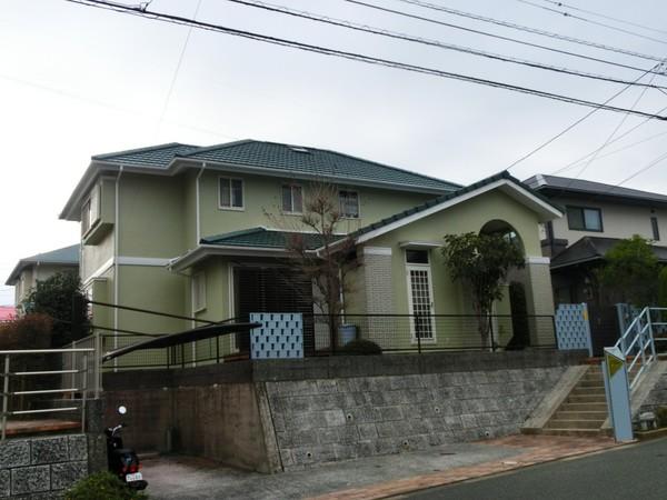 12月13日完成です。小郡市希みが丘・O様邸 外壁塗装・屋根塗装工事