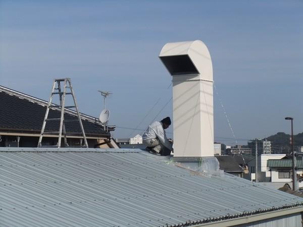 1/26完成です。山田自動車様 屋根塗装工事