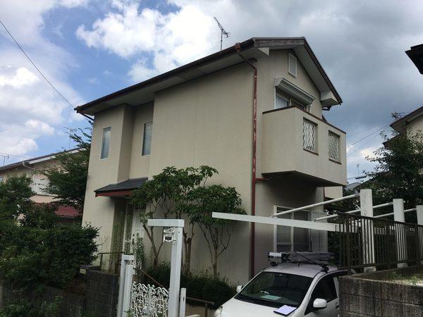 3/13完成です。太宰府市国分・A様邸 外壁塗装・屋根塗装工事
