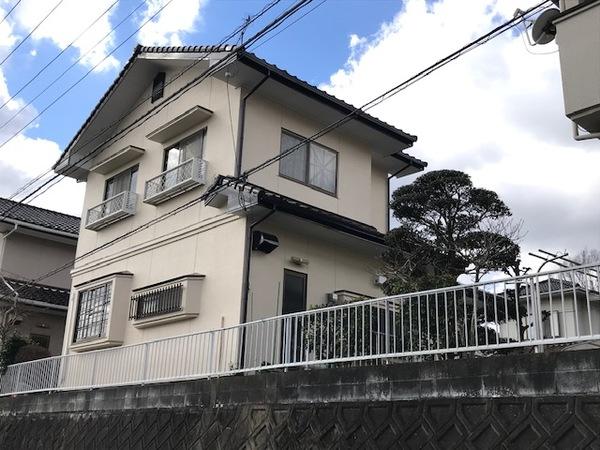 12/27完成です。筑紫野市二日市北・O様邸 外壁塗装工事