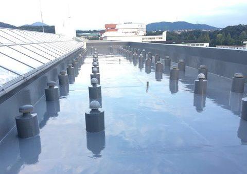 11/28完成です。太宰府市五条・こども短期大学様 屋上防水工事