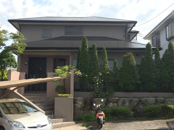 5月2日完成です。筑紫野市天拝坂・Y様邸 外壁塗装・屋根塗装工事