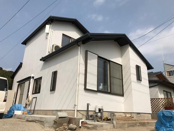 1月25日完成です。福岡市西区糸島市・U様邸 外壁塗装工事