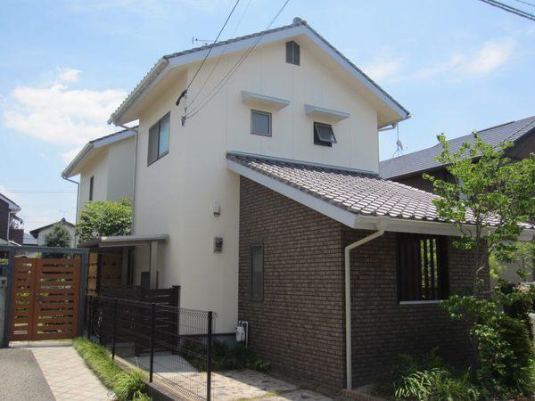 6/2完成です。太宰府市観世音寺・H様邸 外壁塗装工事