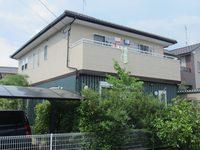 6/21完成です。筑紫野市湯町・H様邸 外壁塗装工事