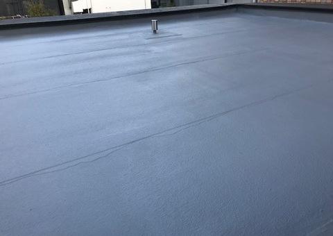 4/21完成です。東区SSマンション 屋根塗装・防水加工工事