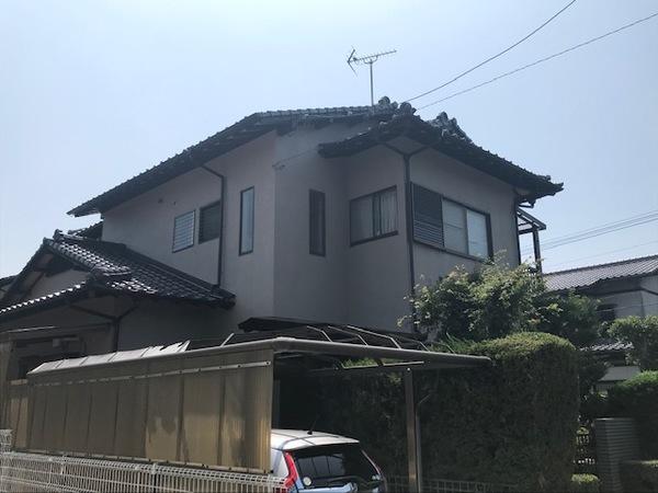 9/10完成です。福岡県小郡市三国ヶ丘・N様邸 外壁塗装工事・エクステリア工事