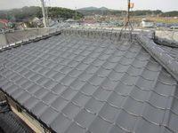 2/14完成です。筑紫野市筑紫・O様邸 屋根塗装工事
