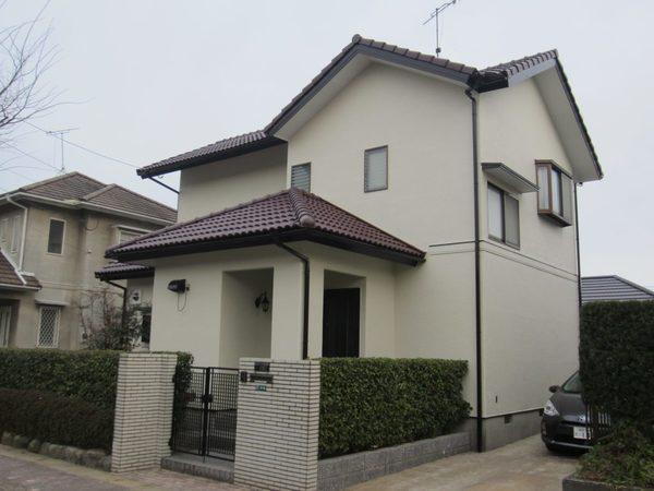 1/20完成です。太宰府市大佐野・B様邸 外壁塗装・屋根塗装工事