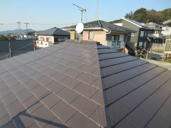 2/23完成です。太宰府市水城・T様邸 屋根塗装工事