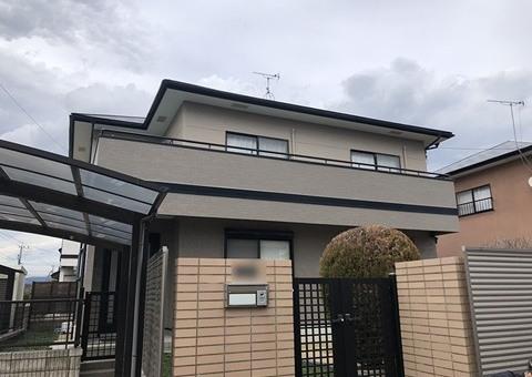 2/13完成です。朝倉郡筑前町・H様邸 外壁塗装・屋根塗装工事