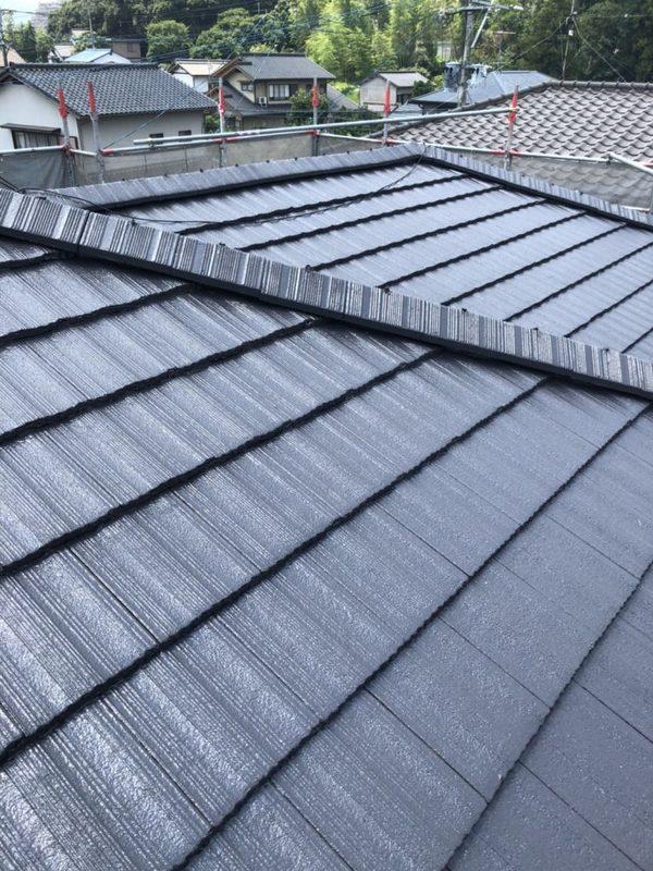 7/19完成です。筑紫野市牛島・M様邸 屋根塗装工事