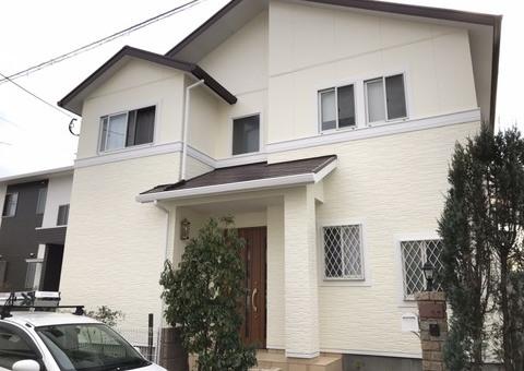 12/29完成です。糟屋郡久山町・E様邸 外壁塗装・屋根塗装工事