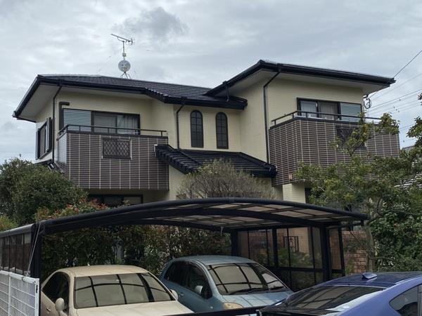 10/7完成です。小郡市三国が丘・N様邸 外壁塗装・屋根塗装工事