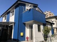 11/3完成です。福岡市西区愛宕南・M様邸 外壁塗装・屋根塗装工事