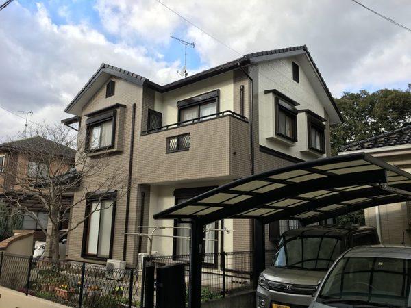 12/27完成です。太宰府市梅が丘・K様邸 外壁塗装工事