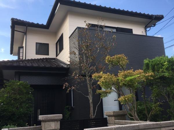 10/4完成です。筑紫野市阿志岐・N様邸 外壁塗装工事