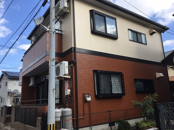 11/10完成です。大野城市若草・コーポクリサンス様 外壁塗装・屋根塗装・防水工事