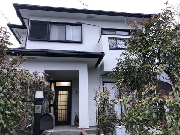 2/27完成です。朝倉郡筑前町・E様邸 外壁塗装・屋根塗装工事