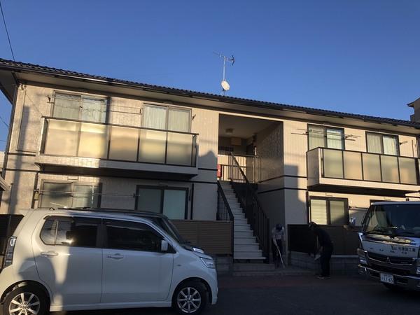 12/2完成です。大野城市栄町・Gアパート様 外壁塗装工事