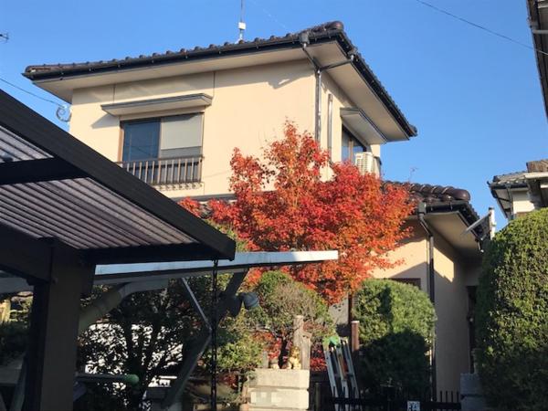 11/20完成です。筑紫野市二日市北・K様邸 外壁塗装工事